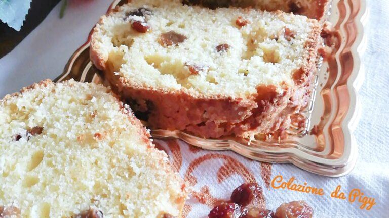 Colazione con…Plumcake alla ricotta e uvetta