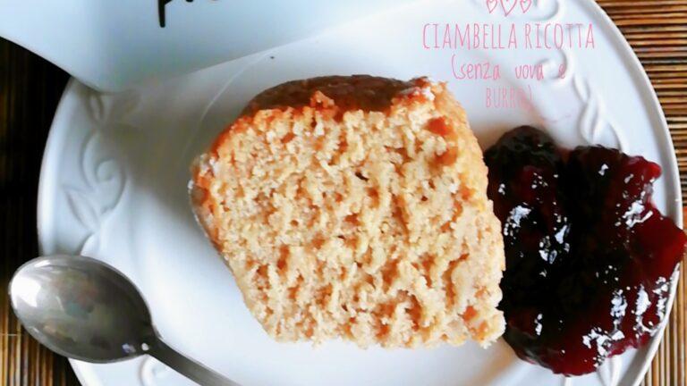 Colazione con…Ciambella integrale alla ricotta (senza uova e burro)