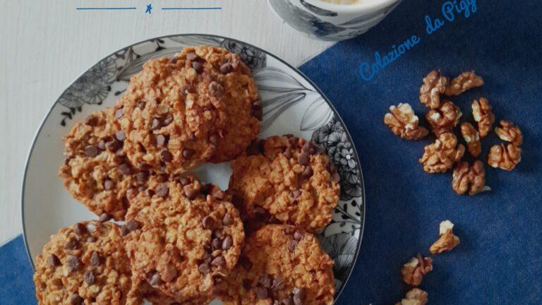 Colazione con…Biscotti orzo, noci e cioccolato