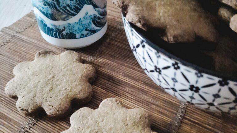 Colazione con…Biscotti vegani al tè matcha