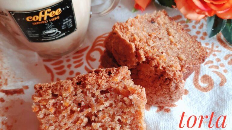 Colazione con…Torta carote e pesche